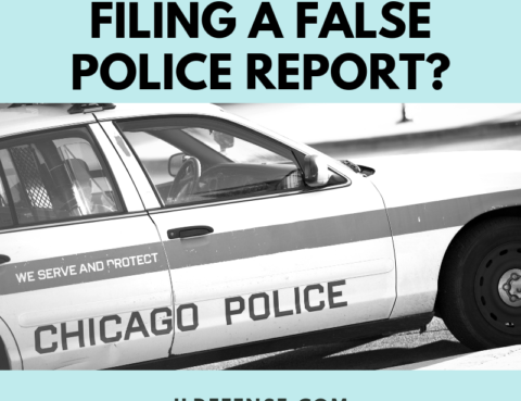 Can you get in trouble for filing a false police report in illinois